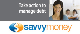 Take action to manage debt with SavvyMoney.