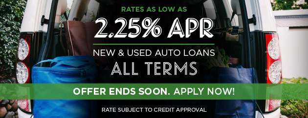 Low auto rates for all terms, new and used.