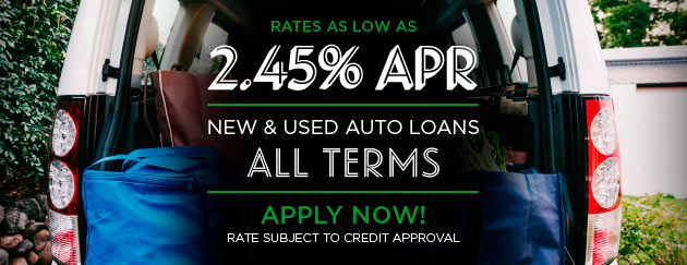 New & Used Auto Loans - 90 Days No Payments and Rates as Low as 2.14% - Apply Now! Rate subject to credit approval