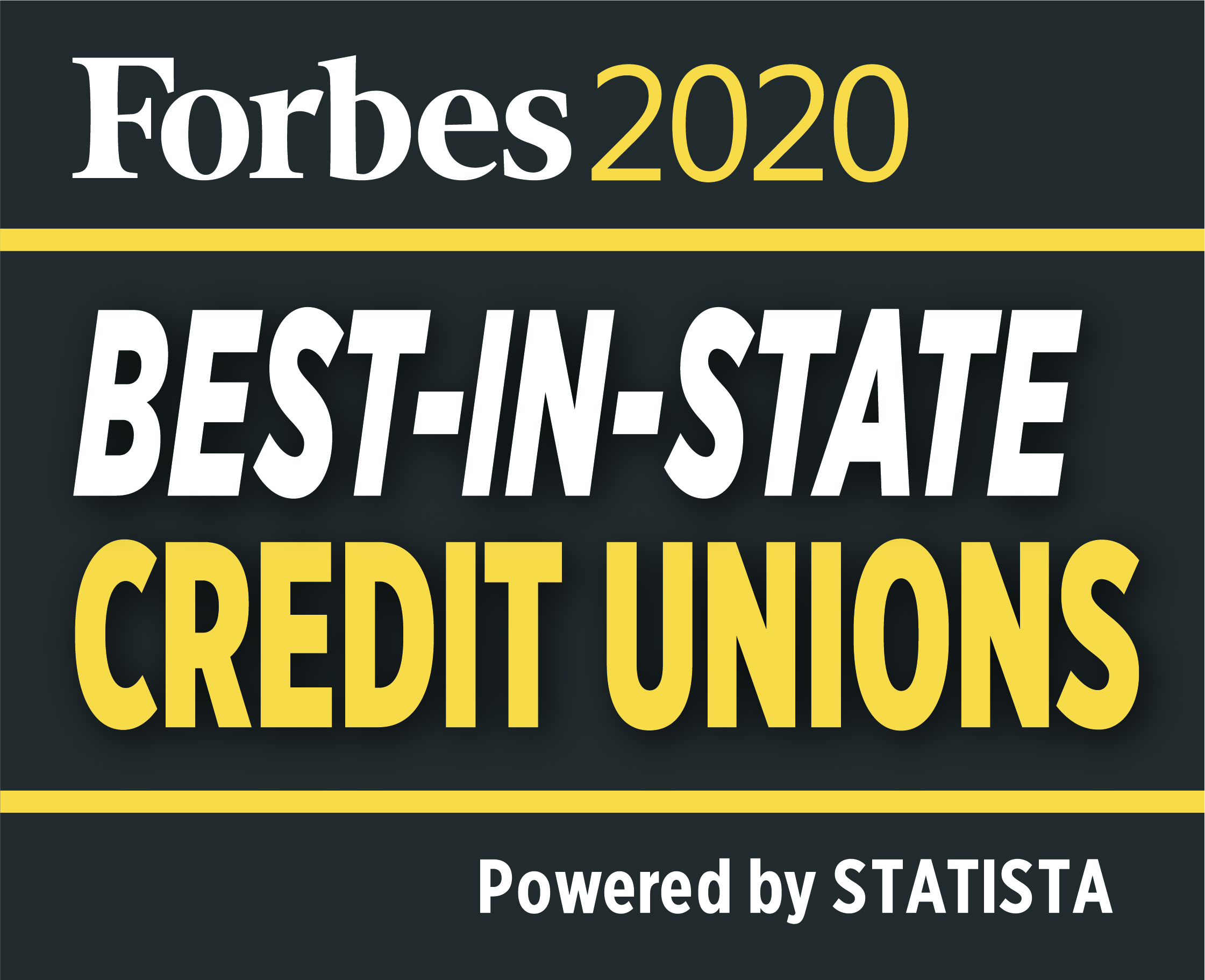 Forbes 2019 best-in-state credit union Powered by STATIS