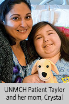 UNMCH Patient Taylor and her mom, Crystal